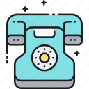 phone, telephone, vintage icon