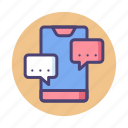 chat, live chat, message, messaging icon