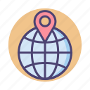 global, globe, gps, location, worldwide icon