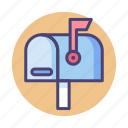 letterbox, mail, mailbox icon