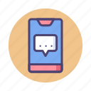 chat, chatting, message, messaging, text, texting icon
