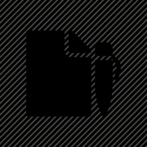 create, document, edit, file, sheet icon