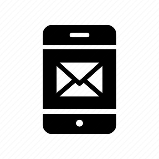 device, inbox, message, mobile, phone icon