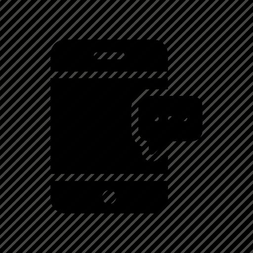 bubble, chat, conversation, messag, mobile icon