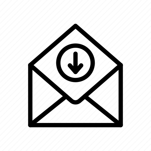 download, inbox, letter, mail, message icon
