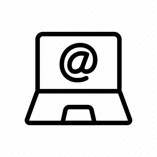 computer, device, email, laptop, message icon