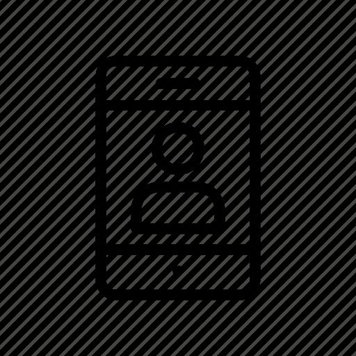 device, gadget, login, mobile, phone icon