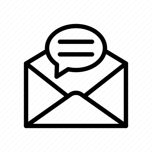 bubble, inbox, mail, message, open icon