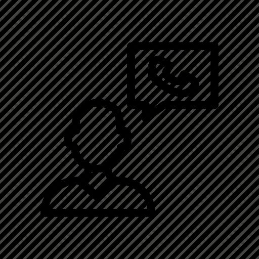 avatar, call, customer, employee, user icon