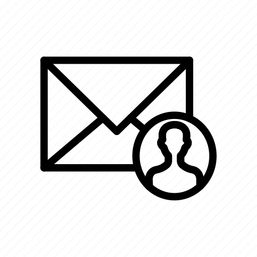 envelope, letter, mail, message, user icon