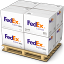 boxes, fedex, goods, palet, products, shipment, shipping, warehouse