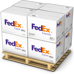 boxes, fedex, goods, palet, products, shipment, shipping, warehouse icon