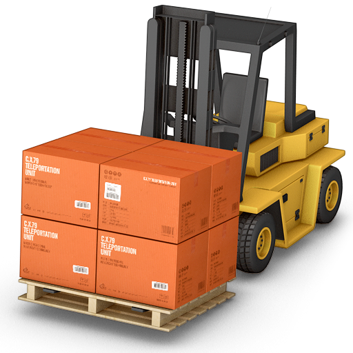 forklift, warehouse icon