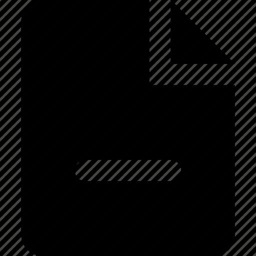 minus, page icon