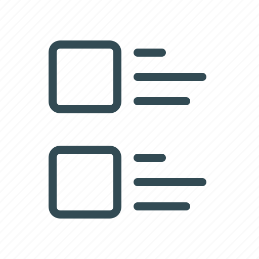 content, edit tools, lines, list, menu, square, text formation icon