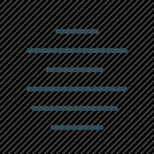 align, center, lines, menu, text align icon