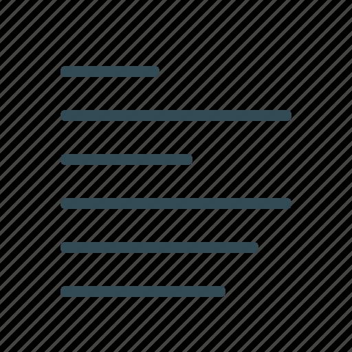 align, edit tools, left, lines, menu, text formation icon