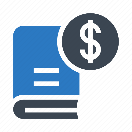 book, cash, currency, dollar, money icon