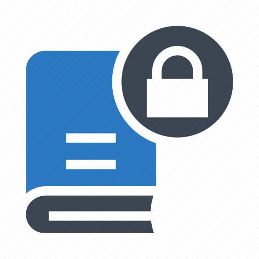 Book, lock, password, protection, secure icon - Download on Iconfinder
