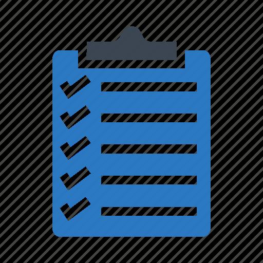 checklist, clipboard, document, survey, tasklist icon