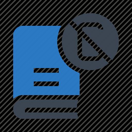 block, book, content, reading, remove icon