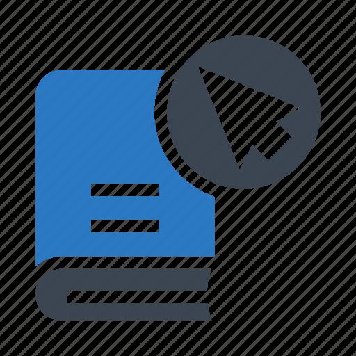 book, content, cursor, library, pointer icon