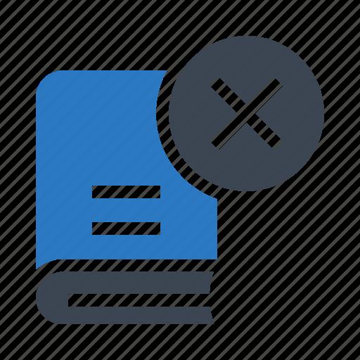 book, content, delete, education, knowledge icon