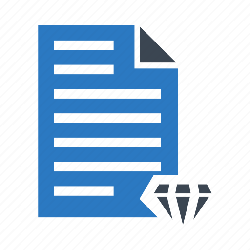 diamond, document, file, page, paper icon