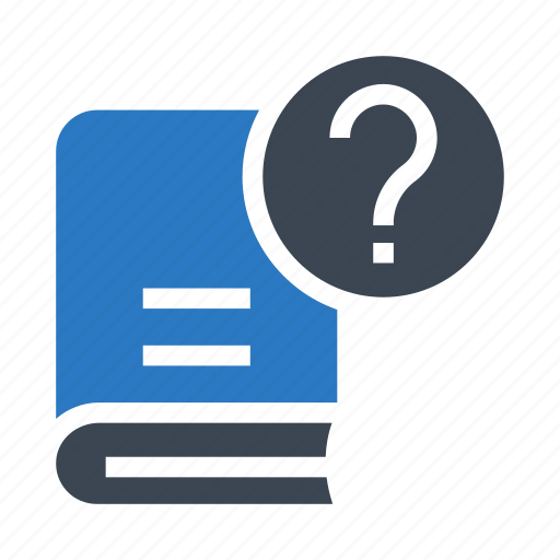 book, content, help, library, questionmark icon