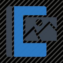 book, content, image, photo, picture icon