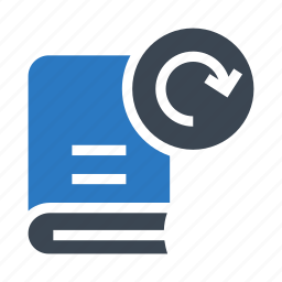 book, content, education, redo, reload icon