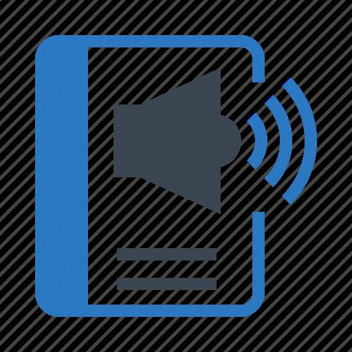 Book, high, sound, speaker, volume icon - Download on Iconfinder