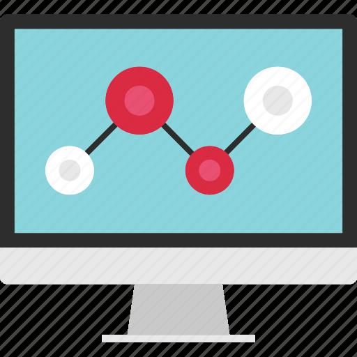 analytics, analyze, computer, data, online, screen, web icon