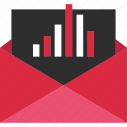 analytics, analyze, data, gmail, mail icon
