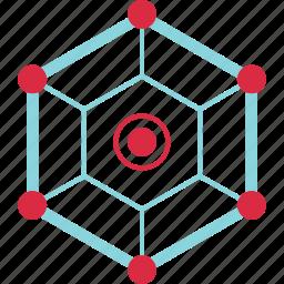 analytics, cube, data, server icon