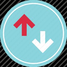 activity, analytics, arrow, down, up, web icon