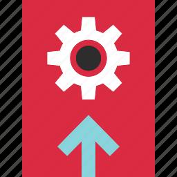 arrow, online, options, setup, up, web icon