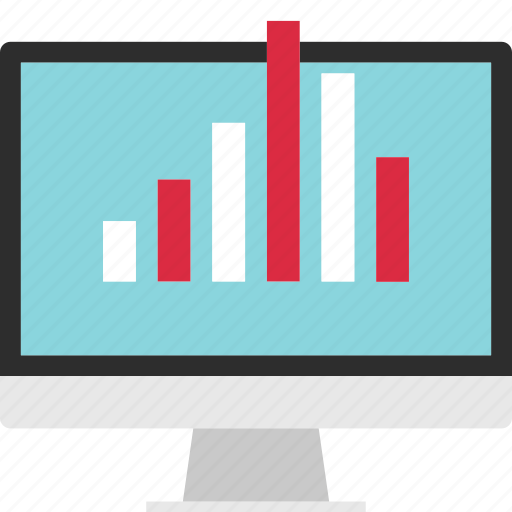analytics, analyze, computer, data, screen icon