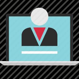 content, creator, online, web icon