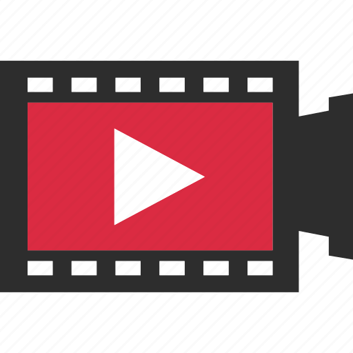 film, media, record, sign, video, youtube icon