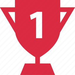 award, number, one, trophy icon