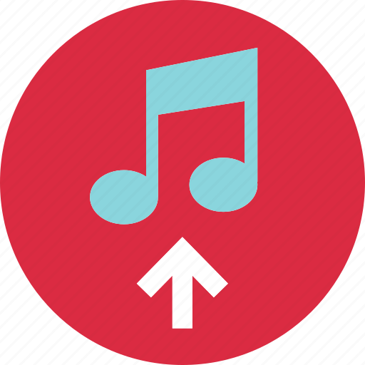 content, music, play, upload icon
