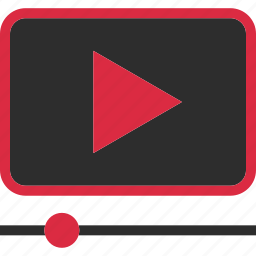 media, play, video, youtube icon