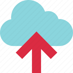 arrow, cloud, save, up, upload icon