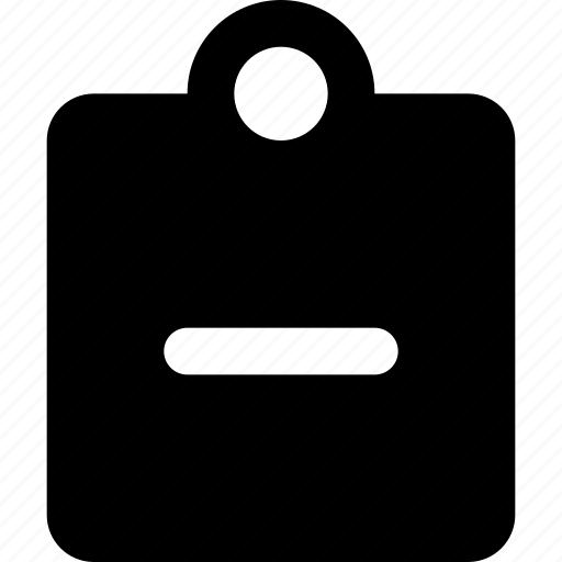 clipboard, minus icon