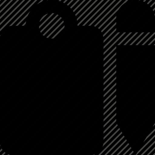 clipboard, pencil icon