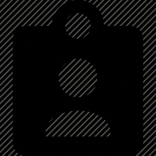 clipboard, person icon