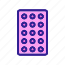 contraceptive, drug, medical, pack, pills icon