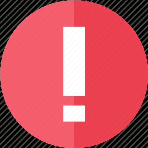 alert, media, multimedia, red, remember, warning icon