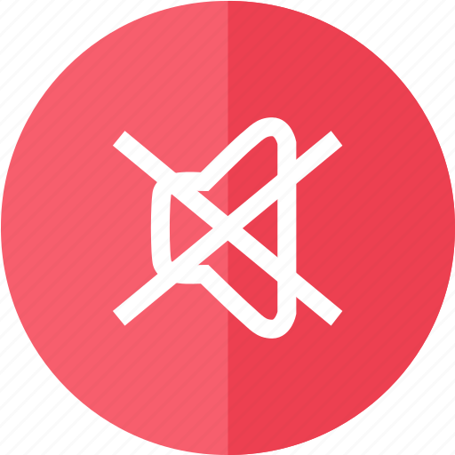 control, media, multimedia, mute, nosound, red, sound icon